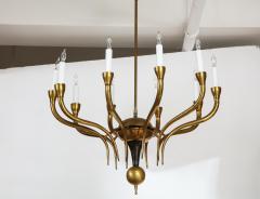 Italian Vintage Brass Ten Light Chandelier - 2132928