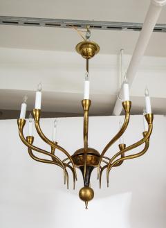 Italian Vintage Brass Ten Light Chandelier - 2132929