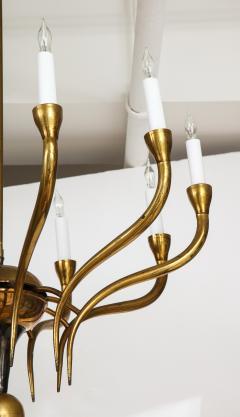 Italian Vintage Brass Ten Light Chandelier - 2132930
