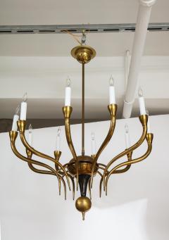 Italian Vintage Brass Ten Light Chandelier - 2132931
