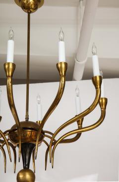 Italian Vintage Brass Ten Light Chandelier - 2132933