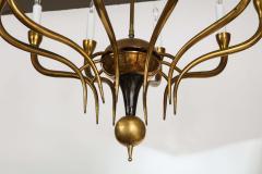 Italian Vintage Brass Ten Light Chandelier - 2132934