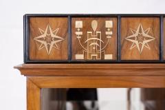 Italian Walnut Art Deco Vitrine 1930s - 856191