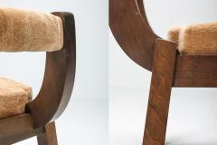 Italian Walnut Dining Chairs 1950s - 1999179