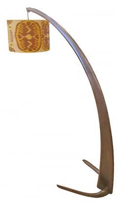 Italian Walnut Tusk Floor Lamp 1940s - 587173