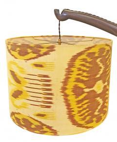 Italian Walnut Tusk Floor Lamp 1940s - 587175