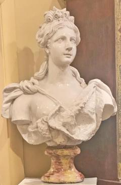 Italian White Lead Glazed Terracotta Sculpture of Selene Goddess of the Moon - 1903833