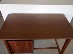 Italian Wooden Writing Desk with Brass Details - 1252456