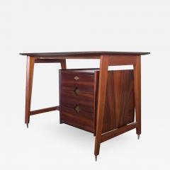 Italian Wooden Writing Desk with Brass Details - 1257168