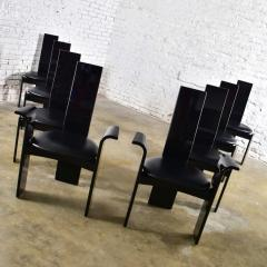 Italian black lacquered dining chairs attributed to pietro costantini set of 8 - 1881674