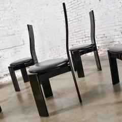 Italian black lacquered dining chairs attributed to pietro costantini set of 8 - 1881700