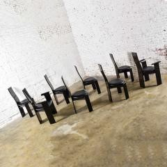 Italian black lacquered dining chairs attributed to pietro costantini set of 8 - 1881705