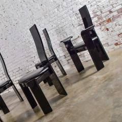 Italian black lacquered dining chairs attributed to pietro costantini set of 8 - 1881712
