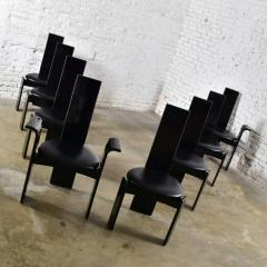 Italian black lacquered dining chairs attributed to pietro costantini set of 8 - 1881713