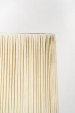 Italian high end floor lamp made of brass with silk shade 50s - 1849799