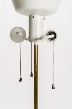 Italian high end floor lamp made of brass with silk shade 50s - 1849803