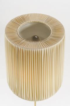 Italian high end floor lamp made of brass with silk shade 50s - 1849807
