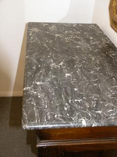 Italian marble top credenza 19th c  - 899240