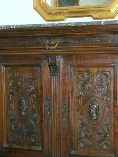 Italian marble top credenza 19th c  - 899241