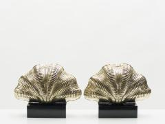 Italian mid century Solid Brass Scallop table lamps 1960s - 1072600