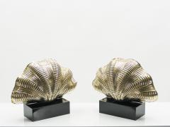 Italian mid century Solid Brass Scallop table lamps 1960s - 1072601