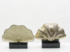Italian mid century Solid Brass Scallop table lamps 1960s - 1072602