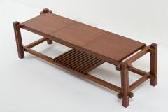Italian modular table in solid teck and brass circa 1960 - 1504624