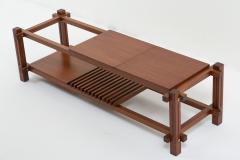 Italian modular table in solid teck and brass circa 1960 - 1504625