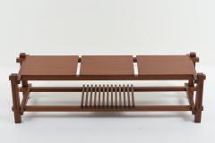 Italian modular table in solid teck and brass circa 1960 - 1504628