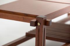 Italian modular table in solid teck and brass circa 1960 - 1504629