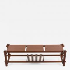 Italian modular table in solid teck and brass circa 1960 - 1509567