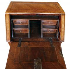 Italian neoclassical style marquetry inlaid fruitwood drop front desk - 1992458