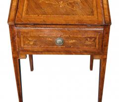 Italian neoclassical style marquetry inlaid fruitwood drop front desk - 1992460