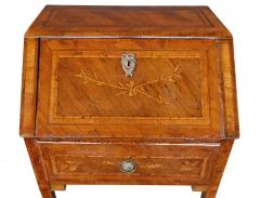 Italian neoclassical style marquetry inlaid fruitwood drop front desk - 1992461