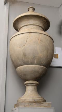Italian pair of Neoclassical Marble Vases Serracolin Versailles - 1964044