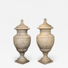 Italian pair of Neoclassical Marble Vases Serracolin Versailles - 1966981
