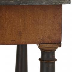 Italian partly ebonised walnut coffee table with scagliola top - 2003868