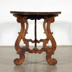 Italian walnut trestle table Circa 1850 - 1127366