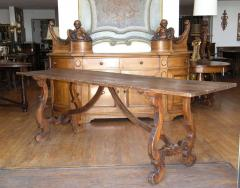 Italian walnut trestle table Circa 1850 - 1127368
