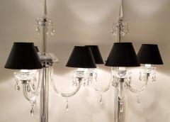 Italianate Lead Crystal Chandelier Floor Lamps Circa 1940 - 1162773