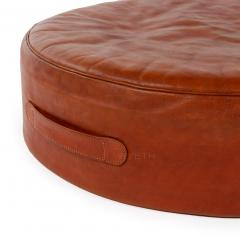 Ivan Schlechter Red Leather Stool - 784549