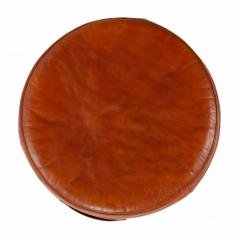 Ivan Schlechter Red Leather Stool - 784550