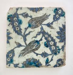 Iznik Pottery Tiles 17th Century Ottoman Turkey Set of Three - 2139419