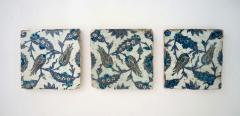 Iznik Pottery Tiles 17th Century Ottoman Turkey Set of Three - 2139428