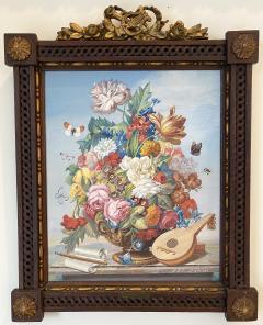 J Friedrich Jungling Floral Bouquet with Mandolin  - 1725534