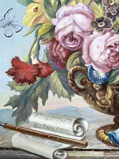 J Friedrich Jungling Floral Bouquet with Mandolin  - 1725536