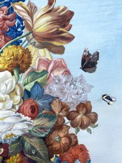J Friedrich Jungling Floral Bouquet with Mandolin  - 1725537
