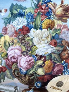 J Friedrich Jungling Floral Bouquet with Mandolin  - 1725538
