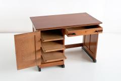 J J Buskes J J Buskes Art Deco Desk in Oak and Macassar Ebony Netherlands 1925 - 1497201
