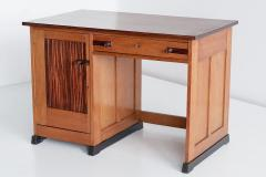 J J Buskes J J Buskes Art Deco Desk in Oak and Macassar Ebony Netherlands 1925 - 1497202